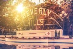Willkommen in Beverly Hills Stockbild
