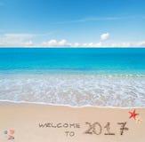 Willkommen bis 2017 Lizenzfreie Stockbilder