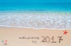 Willkommen bis 2017 Lizenzfreie Stockfotos