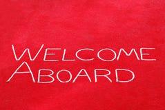 Willkommen an Bord des Zeichens Lizenzfreie Stockfotos