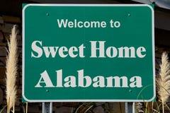 Willkommen nach Alabama lizenzfreie stockbilder