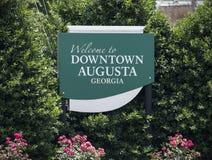 Willkommen nach Augusta stockfoto
