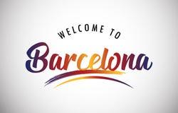 Willkommen nach Barcelona lizenzfreie abbildung