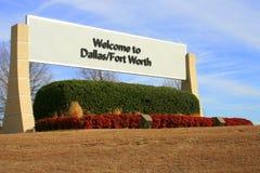Willkommen nach Dallas Stockfotos