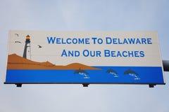 Willkommen nach Delaware Lizenzfreies Stockbild