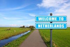 Willkommen nach die Niederlande Stockbild