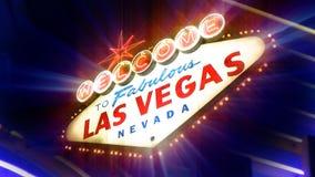 Willkommen nach fabelhaftes Las Vegas Nevada Sign stock footage