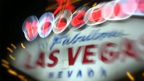 Willkommen nach fabelhaftes Las Vegas Nevada Sign stock video footage