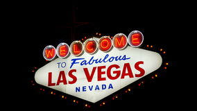 Willkommen nach fabelhaftes Las Vegas Nevada Sign (Loopable) stock video footage