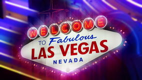 Willkommen nach fabelhaftes Las Vegas Nevada Sign (Loopable) stock footage