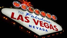 Willkommen nach fabelhaftes Las Vegas Nevada Sign (Schleife) stock footage