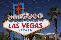Willkommen nach Las Vegas Stockfotografie