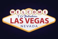 Willkommen nach Las Vegas lizenzfreie abbildung