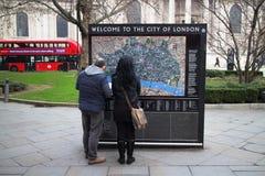 Willkommen nach London Stockbild
