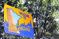 Willkommen nach Minnesota Lizenzfreies Stockbild