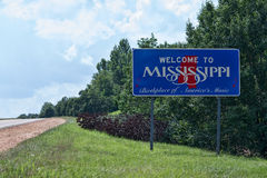 Willkommen nach Mississippi Lizenzfreie Stockfotos