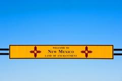 Willkommen nach New-Mexiko stockbilder