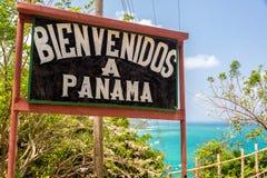 Willkommen nach Panama Stockfoto