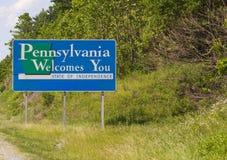 Willkommen nach Pennsylvania Stockfotografie