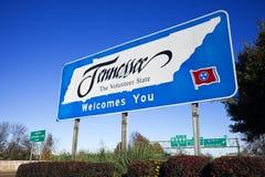 Willkommen nach Tennessee Lizenzfreies Stockfoto