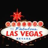 Willkommen nach Vegas stockfotos