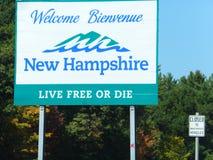 Willkommen, New Hampshire Lizenzfreies Stockfoto