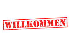 WILLKOMMEN Stock Photo