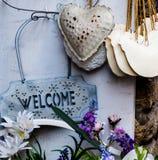 Willkommen in Toskana Stockfoto