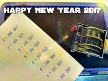 Willkommen u. guten Rutsch ins Neue Jahr 2017 Lizenzfreies Stockbild