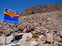 Willkommen zu Arizona-Zeichen lizenzfreie stockfotos