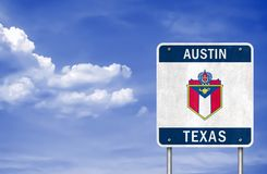 Willkommen zu Austin - Texas lizenzfreie stockfotos