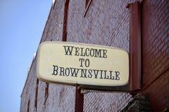 Willkommen zu Brownsville Tennessee von Haywood County Lizenzfreie Stockfotos