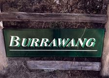 Willkommen zu Burrawang stockfotografie