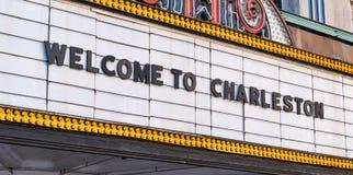 Willkommen zu Charleston Marquee lizenzfreie stockbilder
