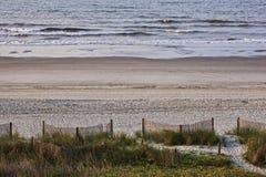Willkommen zu einem Tag am Strand! Stockfoto