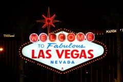 Willkommen zu fabelhaftem Las Vegas-Zeichen Stockbild