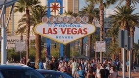 Willkommen zu fabelhaftem Las Vegas-Zeichen - USA 2017 stock video footage