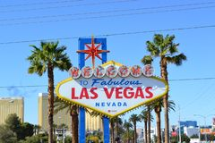 Willkommen zu Fabulos Las Vegas stockfotos