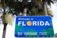 Willkommen zu Florida Stockbild