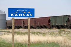 Willkommen zu Kansas lizenzfreies stockbild