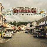 Willkommen zu Ketchikan Alaska lizenzfreies stockfoto