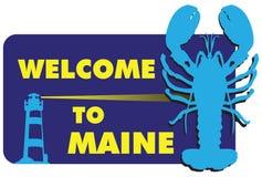 Willkommen zu Maine Stockbild