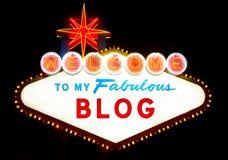 Willkommen zu meinem Blog Lizenzfreies Stockfoto