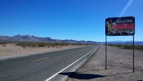Willkommen zu Nevada Side Entrance Lizenzfreie Stockfotos