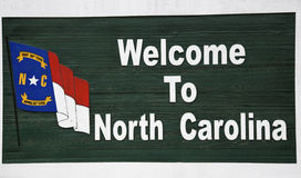 Willkommen zu Nord-Carolina Stockfoto