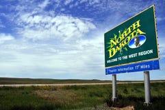 Willkommen zu North Dakota Stockfotos