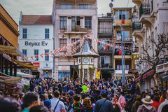 Willkommen zu Prinzen Island - Istanbul Buyukada Stockfotos