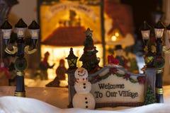 Willkommen zu unserem Dorf Stockbilder