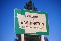 Willkommen zu Washington State Sign stockbilder