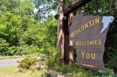 Willkommen zu Wisconsin Lizenzfreie Stockfotografie